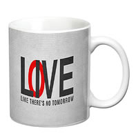 Prithish Live Love Like There Is No Tomorrow White Mug