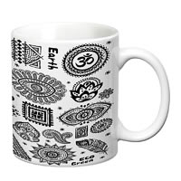 Prithish Yoga Open Your Eyes White Mug