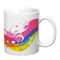 Prithish Musical Rainbow White Mug