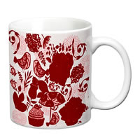 Prithish Floral With Birds Design 3 White Mug