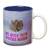 Prithish My Sister From Another Mother White Mug