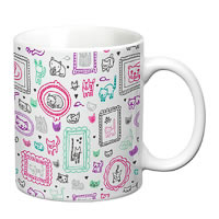Prithish Cats Design 2 White Mug