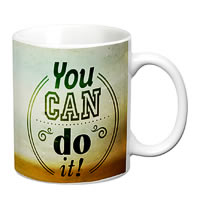 Prithish You Can Do It White Mug