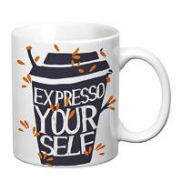 Prithish Expresso Your Self White Mug