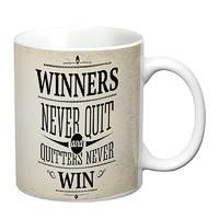 Prithish Winners Never Quit. Quitters Never Win White Mug