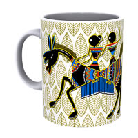 Kolorobia Warli Horse Mug