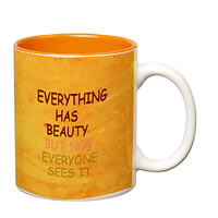 Prithish Everything Has Beauty Double Color Mug