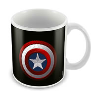 Marvel Captain America Black Ceramic Mug