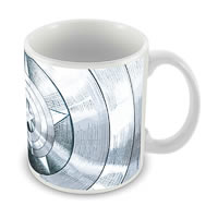 Marvel Captain America - 75 Years Logo Design Ceramic Mug