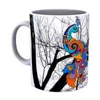 Kolorobia Peacock White Mug