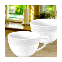 Wilmax ENGLAND Fine Porcelain Julia Jumbo Mug, 500 ml (White) - set of 2