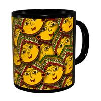 Kolorobia Mithila Art Classic Black Mug