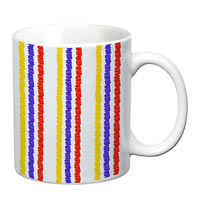 Prithish Abstract Design 9 White Mug