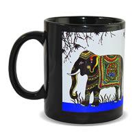 Kolorobia Azure Elephant Classic Black Mug