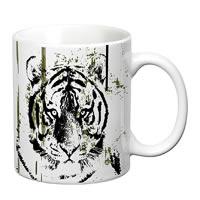Prithish Tiger Sketch White Mug
