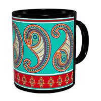 Kolorobia Splendid Paisley Classic Black Mug