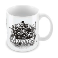 Marvel Avengers Sketch Ceramic Mug