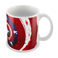 Marvel Captain America Logo Art Star Ceramic Mug