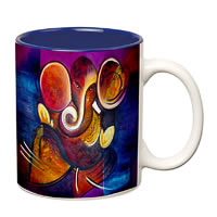 Prithish Ganpati Bappa Design 3 Double Color Mug