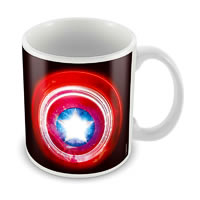 Marvel Captain America Logo Black Ceramic Mug