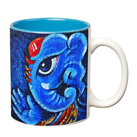 Prithish Ganpati Bappa Design 4 Double Color Mug