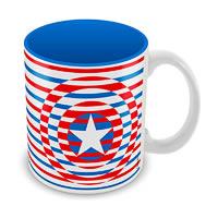 Marvel Captain America Classic Logo Ceramic Mug
