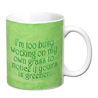 Prithish Working On My Own Grass White Mug