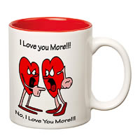 Prithish I Love You More White Mug