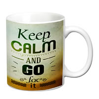 Prithish Keep Calm And Go For It White Mug