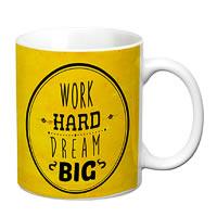 Prithish Work Hard. Dream Big White Mug