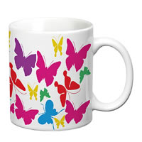 Prithish Colourful Butterflies White Mug