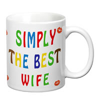 Prithish Simply The Best Wife White Mug