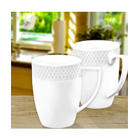 Wilmax ENGLAND Fine Porcelain Julia Mug, 350 ml (White) - set of 2