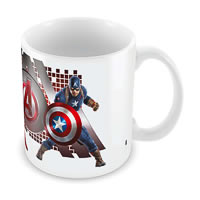 Marvel Iron Man & Captain America Ceramic Mug