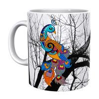 Kolorobia Dazzle Peocock Classic White Mug