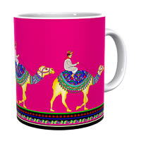 Kolorobia Camel Walk with Pink Hues Classic White Mug