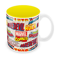 Marvel Comics Logos Ceramic Mug