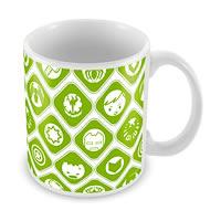 Marvel Kawaii - All Logos Ceramic Mug