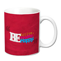 Prithish Be Active Healthy Happy White Mug