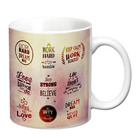 Prithish Motivational Design 2 White Mug
