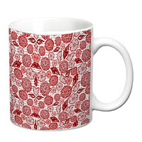 Prithish Floral Design 7 White Mug