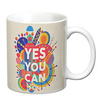 Prithish Yes You Can White Mug