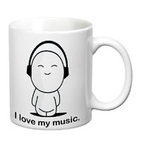 Prithish I Love My Music White Mug