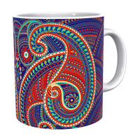 Kolorobia Spledid Paisley Classic White Mug