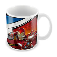 Marvel Civil War - Captain Vs Iron Man Ceramic Mug