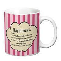 Prithish Happiness Definition White Mug