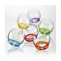 Bohemia Crystal Crazy Whiskey Glass, 390 ml - set of 6