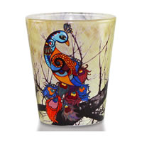Kolorobia Graceful Peacock Shot Glass, 30 ml - set of 2