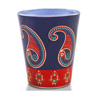 Kolorobia Splendid Paisley Shot Glass, 30 ml - set of 2