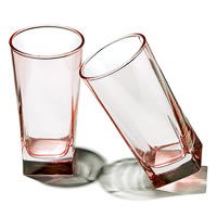 Pasabahce Carre Long Glass Pink, 290 ml - set of 6